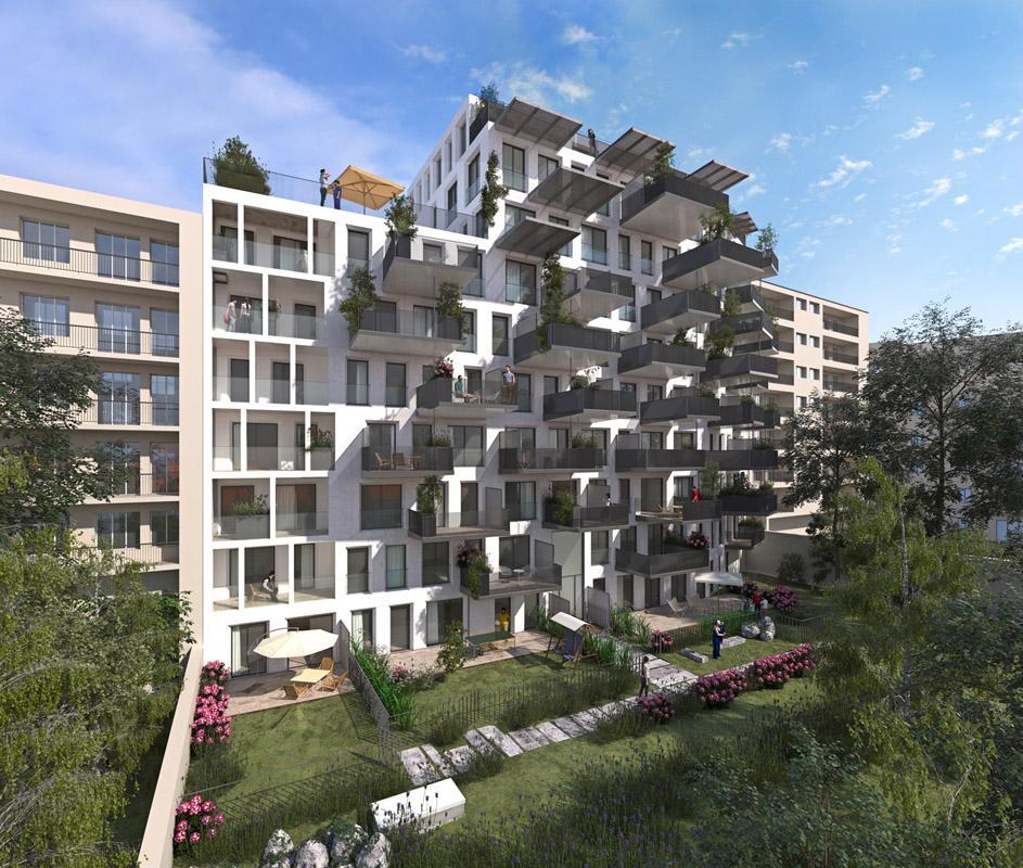 Appartement neuf villeurbanne audace gratte ciel - Terrasse jardin marais villeurbanne ...
